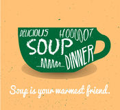 Soup vintage card Stock Photo