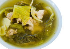 Soup on white Royalty Free Stock Images