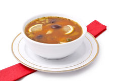 Soup. On white background Royalty Free Stock Image