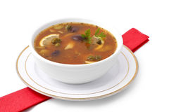 Soup. On white background Royalty Free Stock Photography