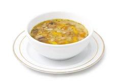 Soup. On white background Stock Photo