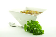 Soup in a White Bowl Royalty Free Stock Photography