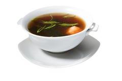 Soup in white bowl Royalty Free Stock Photos