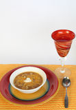 Soup and White Wine Royalty Free Stock Photo