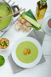 Soup of young peas Stock Images
