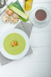 Soup of young peas Stock Image