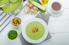 Soup of young peas Royalty Free Stock Image