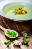 Soup of young peas Royalty Free Stock Photos