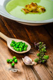 Soup of young peas Stock Photography