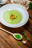 Soup of young peas Royalty Free Stock Images