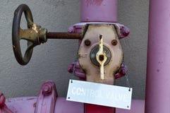 Soupape de commande de l'eau Photos libres de droits