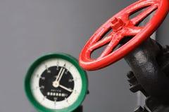 Soupape et indicateur de pression Photographie stock