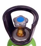 Soupape sur le cylindre de gaz Images libres de droits
