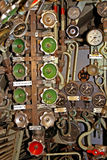 Soupapes à l'intérieur d'un sous-marin Images libres de droits