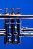 soupapes bleues de trompette photo libre de droits
