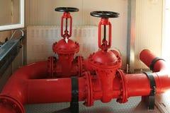 Soupapes d'incendie. Photos libres de droits