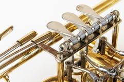 Soupapes d'un instrument de vent Photo libre de droits