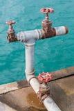 Soupapes de l'eau Images libres de droits