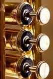 Soupapes de perle d'une trompette Images stock