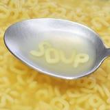 Soupe à alphabet Image libre de droits