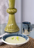 Soupe à amande, à poireau et à céleri Photos libres de droits