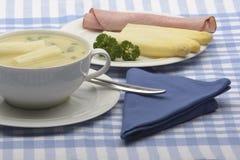 Soupe à asperge Image libre de droits