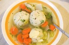 Soupe à boule de Matzoh Photo stock