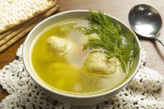 Soupe à boule de Matzoh Photo libre de droits