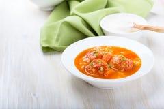 Soupe à boulette de viande Photos stock