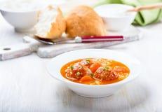 Soupe à boulette de viande Photo stock