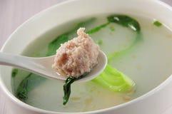 soupe à boulettes de Riz-viande Photographie stock libre de droits