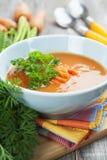 Soupe à carotte Photos stock