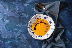Soupe à carotte de potiron image stock