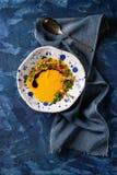 Soupe à carotte de potiron photo stock