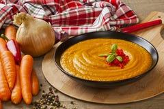 Soupe à carotte de rôti Image libre de droits