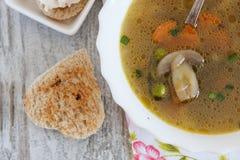 Soupe à champignons Images libres de droits