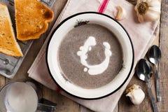Soupe à champignons de Shaked Images libres de droits