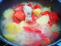 Soupe à Chickhen Photo libre de droits