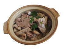 Soupe à Chitterlings de porc photo libre de droits