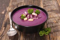 Soupe à chou rouge image libre de droits