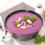 Soupe à chou rouge photos libres de droits