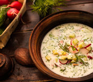 Soupe à concombre Photo libre de droits