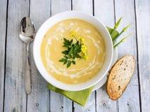 Soupe à courge de Butternut Photo libre de droits