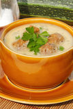 Soupe à courgette Photo stock