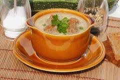 Soupe à courgette Image stock