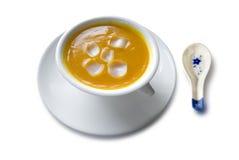 Soupe à crème de lis de Lotus Photo libre de droits