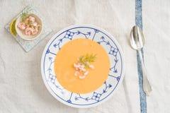 Soupe à crevette images libres de droits