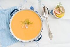 Soupe à crevette photo libre de droits