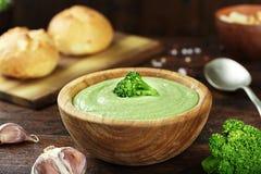 Soupe à déjeuner avec le brocoli Photographie stock