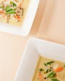 Soupe à deux poissons avec des légumes Photos stock